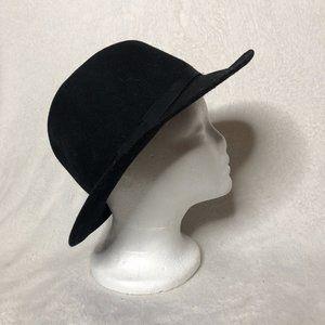 Wilton Mens Black 100% Wool Fedora Hat One Size